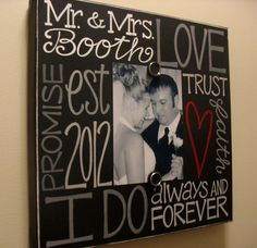 Wedding or Anniversary Canvas Frame 14x14