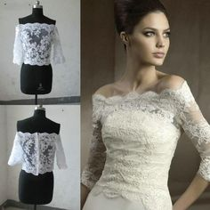 Wholesale cheap wedding jackets online, brand - Find best 2016 free shipping off-shoulder romantic half long sleeve real image sample cheap white ivory lace bolero wedding jackets bridal wraps cheap at discount prices from Chinese bridal wraps & jackets supplier - promfantasy on DHgate.com.