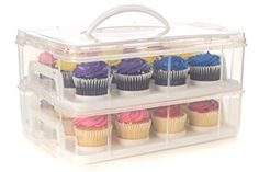 Cupcake Carrier, Shelf Holders, Space Saving Shelves, Buy Cake, Frosting Recipes, Cake Holder, Food Storage Containers, Box Storage, Large Cupcake
