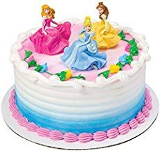 Add this cake decoration to your Disney Princess cake design for a happy ending she'll never forget. DecoSet features Aurora, Belle and Cinderella seated figurines. Includes Cinderella figurine x Belle figurine x and Au. Cake Disney, Disney Princess Birthday Cakes, Disney Cake Toppers, Princess Cake Toppers, Aurora Cake, Diy Birthday Cake, 4th Birthday, Girl Cakes, Party Cakes