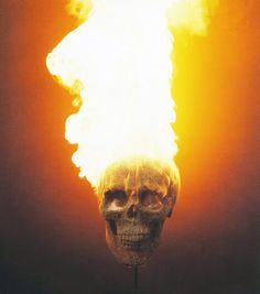 Match head skull, by David Mach.