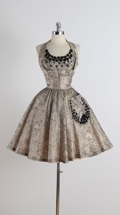 Vintage 1950s Butterfly Stars Organza Party Dress at 1stdibs