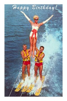 Happy Birthday Water Skiers Posters at AllPosters.com