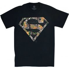 Superman Logo Woodsy Camouflage Men's T-Shirt $17.99