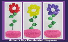 Mother's Day Thumbprint Keepsake via RainbowsWithinReach