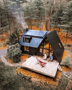 Ideas apartment building architecture tiny house for 2020 A Frame Cabin, A Frame House, Cabins In The Woods, House In The Woods, The House, Tiny House Living, Home And Living, Living Rooms, Style At Home