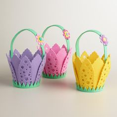 Hop into our Egg-Citing Easter Collection and check out our Felt Flower Easter Baskets from Cost Plus World Market. >> #WorldMarket Easter #BeaBetterBunny