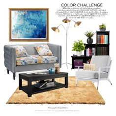"""Color Challenge: Gray & Peach"" by saifai ❤ liked on Polyvore featuring interior, interiors, interior design, home, home decor, interior decorating, Baxton Studio, Threshold, CB2 and Ink & Ivy"