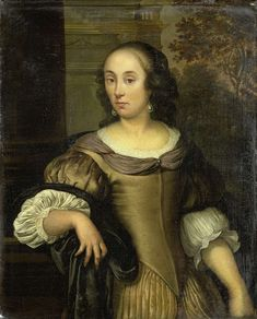 Eglon van der Neer (Dutch, 1635/36 – 1703) - Portrait of a young woman. 1650 - c. 1670. Rijksmuseum