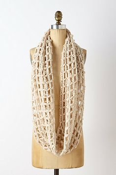 Open Weave Infinity Scarf- Anthropologie