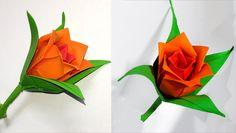 DIY paper rose in origami style. Easy paper rose.                                                                                                                                                                                 More