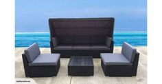 OUTDOOR FURNITURE LOUNGE SUITE WITH CANOPY | Trade Me