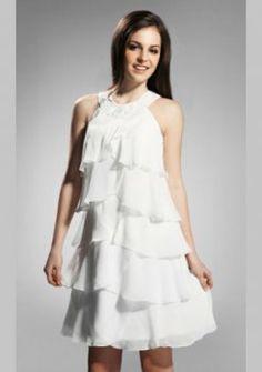 una linea di abiti da sera corti bianchi abiti da ballo economici