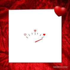 LOVE GAUGE Girlfriend card boyfriend card. Valentine card. Anniversary card #valentine #love #minimalist #heart