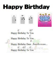 ukulele notes for happy birthday - Google Search
