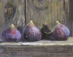 Still Life Drawing, Painting Still Life, Still Life Art, Fruit Painting, Gouache Painting, Watercolor Paintings, Vegetable Painting, Fig Fruit, Pastel Art