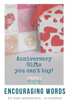 What would be on your list of anniversary gifts you can't buy? You might be surprised by some of these ideas... #anniversary #marriage #husbandandwife #encourage