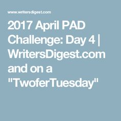 """2017 April PAD Challenge: Day 4 
