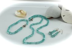 Aquamarine Necklace-Bracelet-Earrings Set www.kimberlyhahnstreasures.com