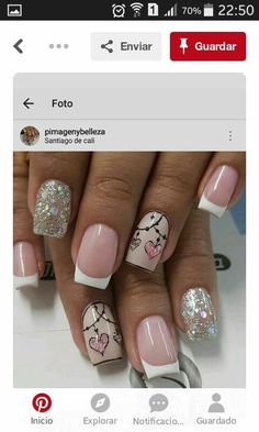 Memes Love Beautiful New Ideas Mani Pedi, Pedicure, Cute Nails, Pretty Nails, Fall Nail Designs, Nail Arts, Christmas Nails, Hair And Nails, Acrylic Nails