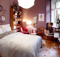 A pink bedroom is a dream of mine.  I can go pink, white, cream, and tan.