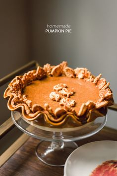 Pumpkin Pie from Waiting on Martha | Looks Amazing! Read more - http://www.stylemepretty.com/living/2013/11/13/pumpkin-pie-from-waiting-on-martha