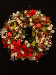 Beautiful Detailed Christmas Wreath with by DesignsbyHEartWorks