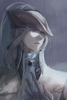 Safebooru - 1girl ascot blonde hair bloodborne hat highres itsuki (itsukiovo) lady maria of the astral clocktower long hair ponytail solo tears the old hunters | 2195439