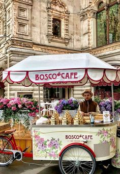Ice cream cart in Moscow, Russia