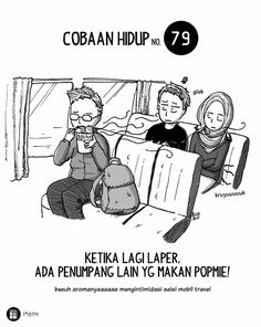 Cobaan Hidup No. 79 by Komik Biebo Funny Love Jokes, Funny Couples Memes, New Funny Memes, Funny Texts Crush, Funny Memes About Girls, Super Funny Quotes, Funny Mom Quotes, Funny Quotes For Teens, Funny Humor