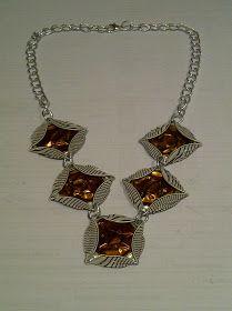 nespressart bijoux: collane e orecchini a rombo