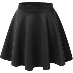 Lock and Love Womens Basic Versatile Stretchy Flared Skater Skirt ($11) ❤ liked on Polyvore featuring skirts, bottoms, skater skirt, stretchy skirt, flared hem skirt, flare skirt and stretch skirt