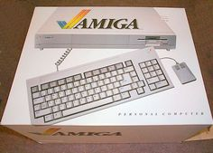 Commodore Amiga 1000 - Our very first computer!  1987, I think!