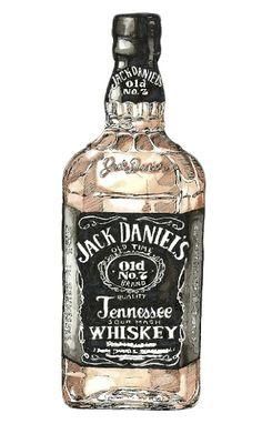 liquor label illustrations - Leslie Lynne