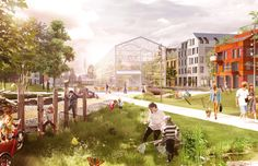 Kjellander + Sjöberg Architects - New Eriksberg - The Barefoot park a signature park