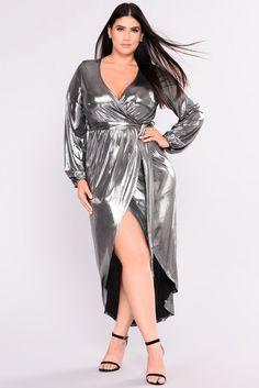 58bdf6bc4f9 Show Your Light Metallic Dress - Silver. Girls DressesSexy DressesMetallic  Maxi DressesFashion Nova CurvePlus Size ...