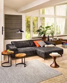 Marvelous Micasa Wohnzimmer mit Ecksofa NOLTE und Beistelltisch ALIS