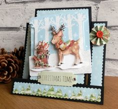 Helz Cuppleditch - Winter woodland stepper card by Maxine