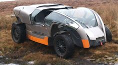 Scamander - Off road and amphibious vehicle. Built by Peter Wheeler, former owner of British sports car maker TVR who passed away in Completed by Wheeler's wife and the team of engineers. Lit Motors, Amphibious Vehicle, Terrain Vehicle, British Sports Cars, Automotive Design, Driving Test, Concept Cars, Offroad, Cars Motorcycles
