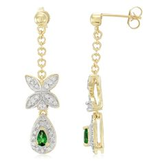 Boucles d'oreilles en or et Grenat Tsavorite AAA-2245XR | Juwelo Bijouterie