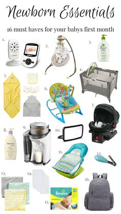 Check out these 16 newborn essentials for your babys first month. Perfect for those mommas looking to put together their baby registry!!!