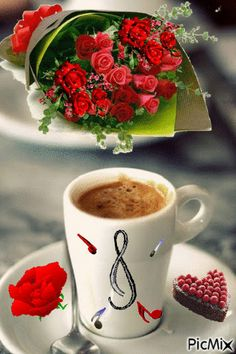 a cup of love! Good Morning Coffee Gif, Good Morning Images, Good Morning Quotes, Coffee Break, Good Morning Love Gif, Coffee Cafe, My Coffee, Coffee Images, Morning Inspiration