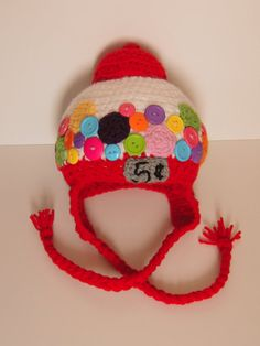 Hey, I found this really awesome Etsy listing at https://www.etsy.com/listing/174632833/gumball-machine-crochet-hat-toddler-to
