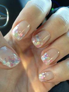 Chunky Glitter Manicure.