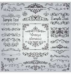 Hand drawn design elements vector  - by olia_fedorovsky on VectorStock®