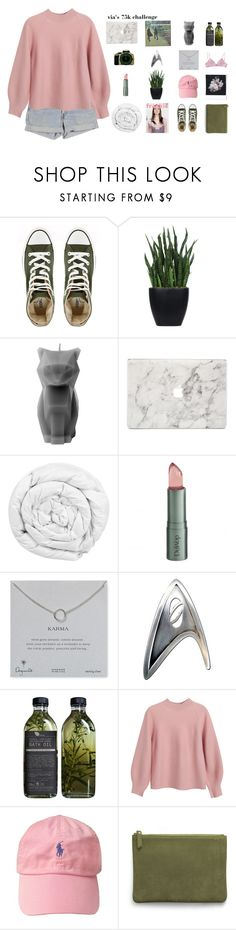 """""""via's 75k challenge"""" by xthe-red-queen ❤ liked on Polyvore featuring Converse, Lux-Art Silks, PyroPet, Agent 18, Brinkhaus, Polaroid, DuWop, Dogeared, Levi's and Chicnova Fashion"""