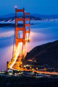 Golden Gate Bridge, Marin Headlands, California  #travel #bridges #california