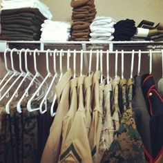 our closet still looks like this, a year later <3
