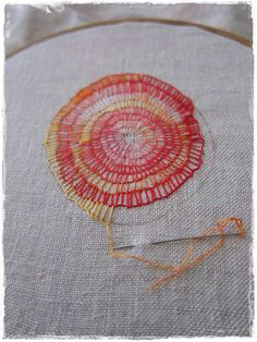 """mantra"" embroidery in progress 