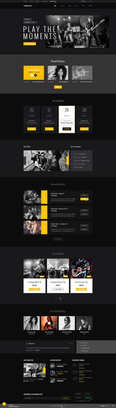 MusicBeat designed by #diadea3007 for #music bands #webdesign #design #website #html